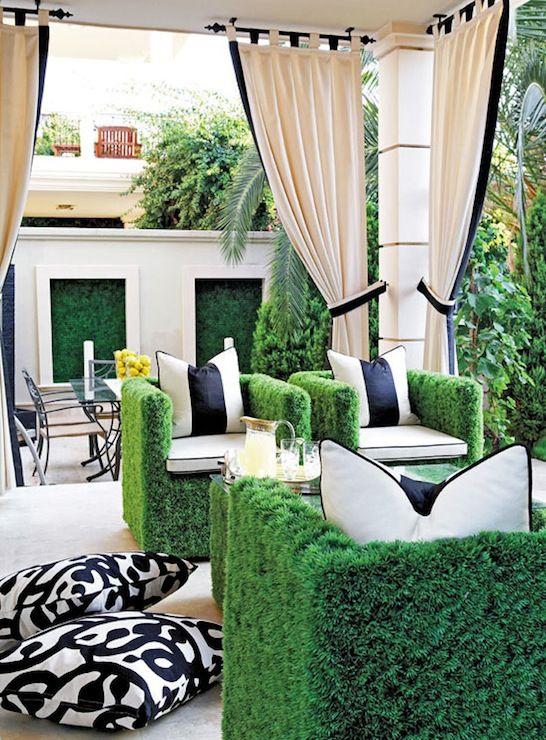 Greyish White Indoor Outdoor Curtain Nicetown Triple Weave