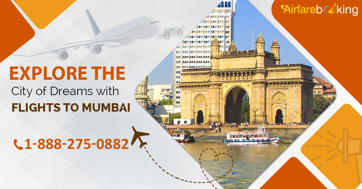 Explore the city of dreams, Mumbai within your budget. Book cheap flights from the #USA to #Mumbai at the lowest airfares. Book Now!  For more information CALL:- 1-888-275-0882 (Toll-Free).  #USAtoMumbaiFlights #BestAirlines #FlightsToMumbai #USAtoIndiaFlights #CheapChristmasFlights #discountedflighttickets #BookNow