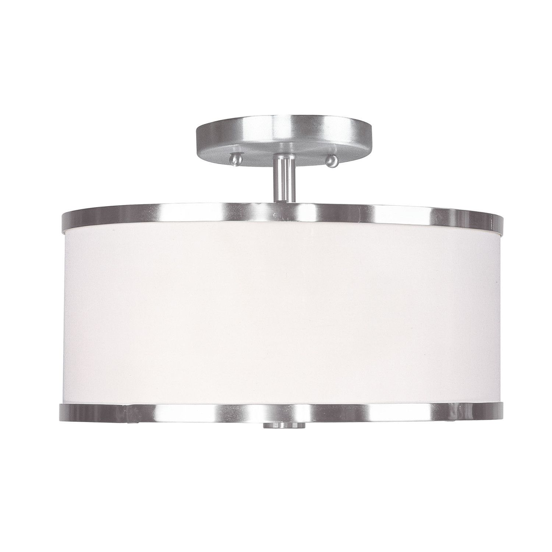Hallway flush mount lighting  Livex Lighting Lakeview Semi Flush Mount  Entrymudroom  Pinterest