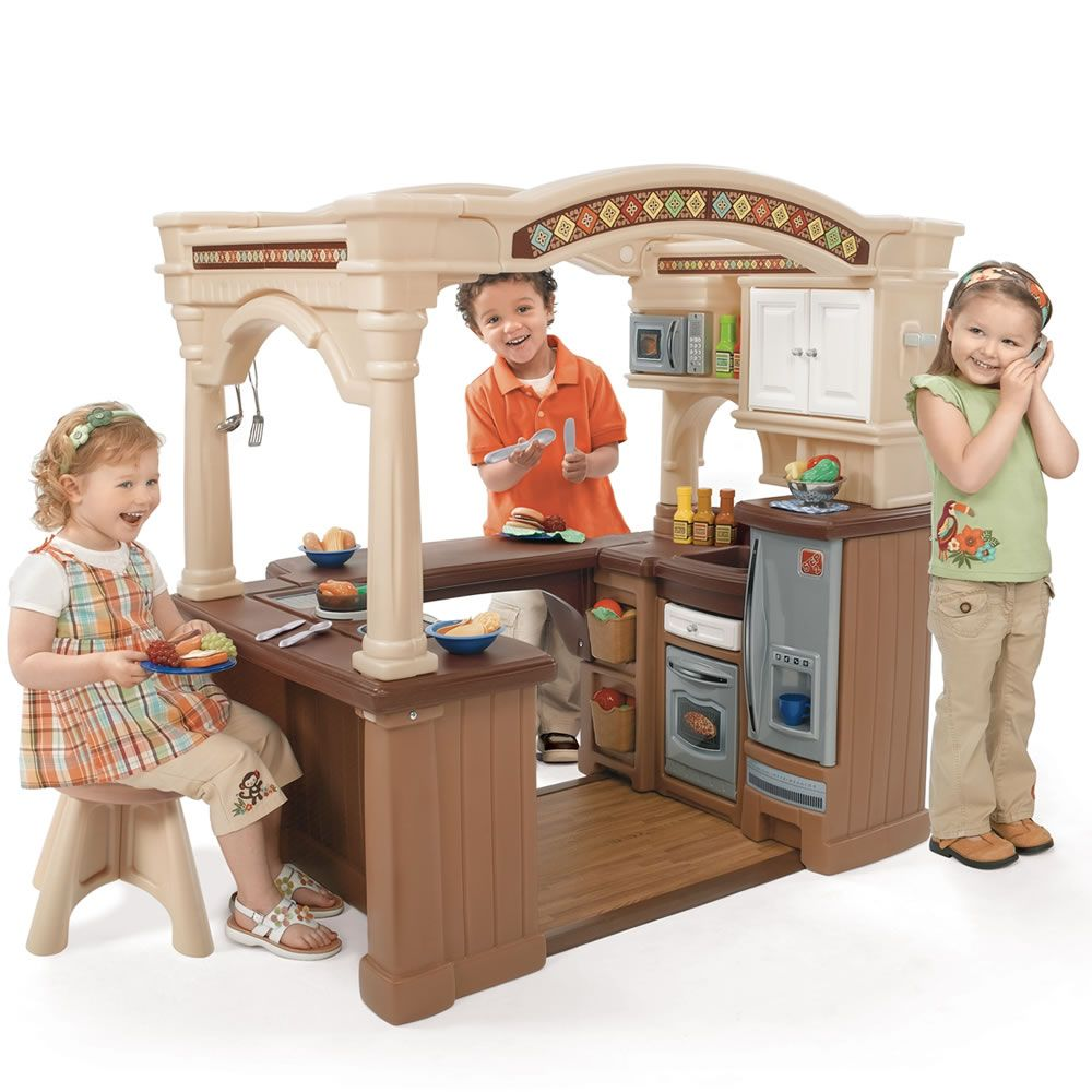 step 2 play kitchens rubber kitchen mat lifestyle grand walk in step2 kids