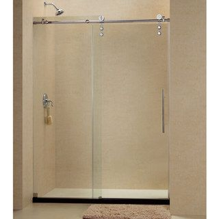 frameless sliding shower door hardware. DreamLine Enigma-Z 56 To 60-inch Fully Frameless Sliding Shower Door Hardware O
