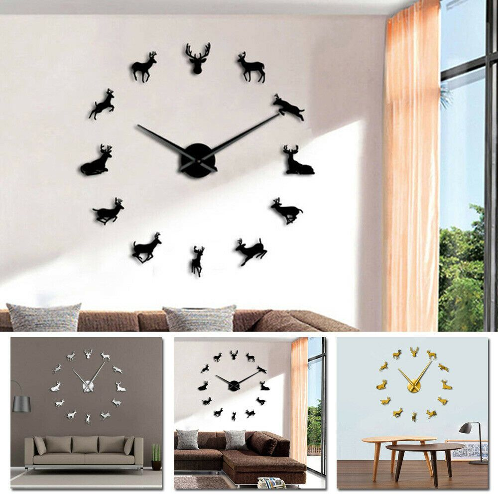 Acrylic Wall Clock 80 120cm Decal Numeral Office Living Room Diy Giant Fashion Home Garden Homedcor Clocks Eb Living Room Diy Living Room Office Room Diy