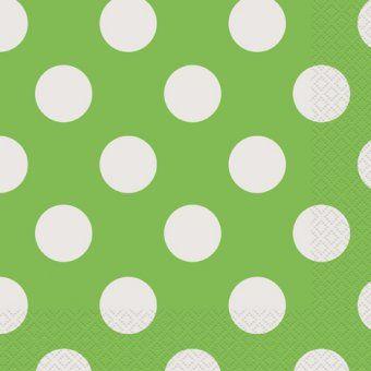 Lime Green Polka Dot Napkins - Pack of 16 - Polka Dot Party Idea & Lime Green Polka Dot Napkins - Pack of 16 - Polka Dot Party Idea ...