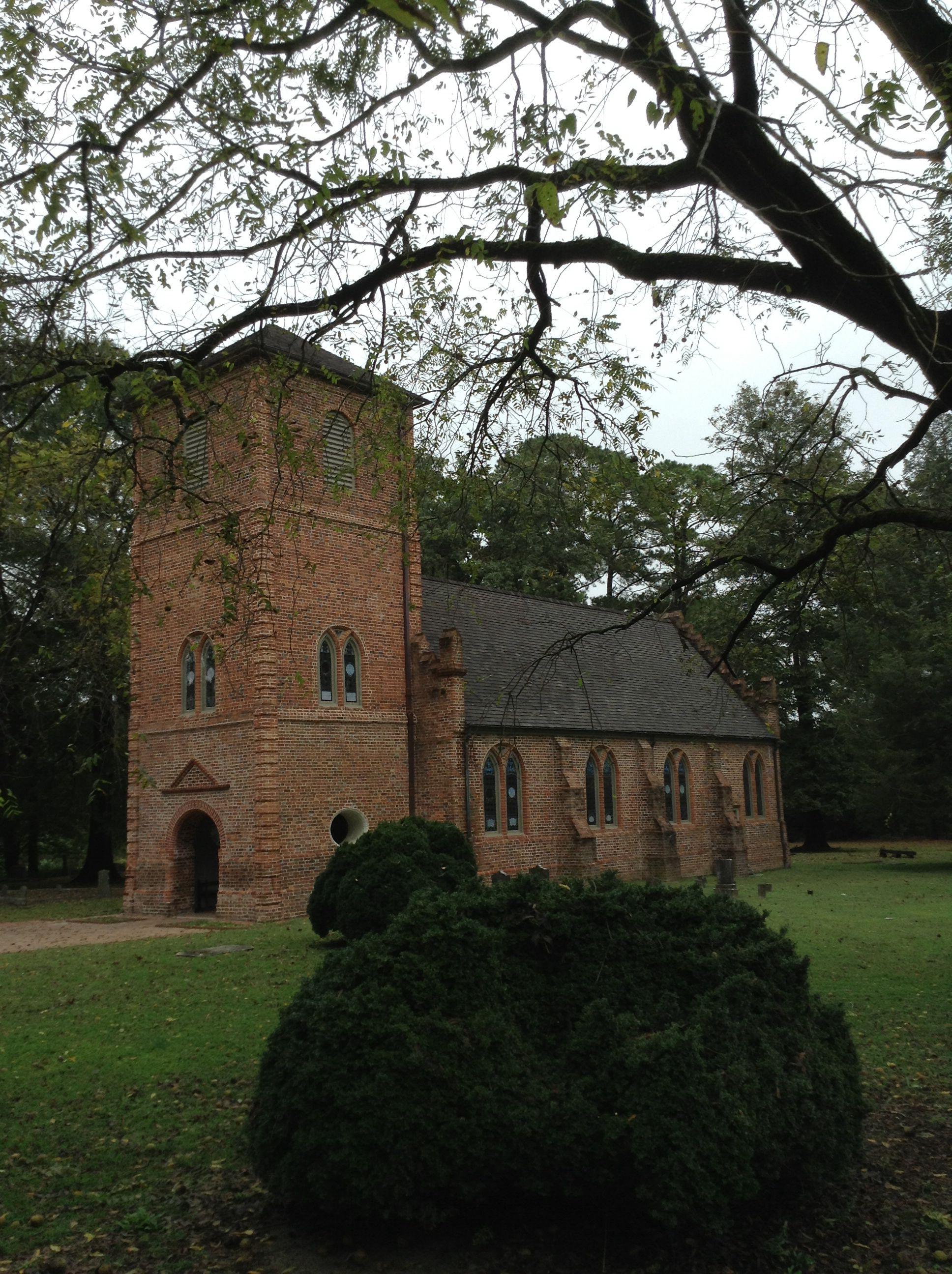 St. Luke's historical church in Smithfield , VA Near the