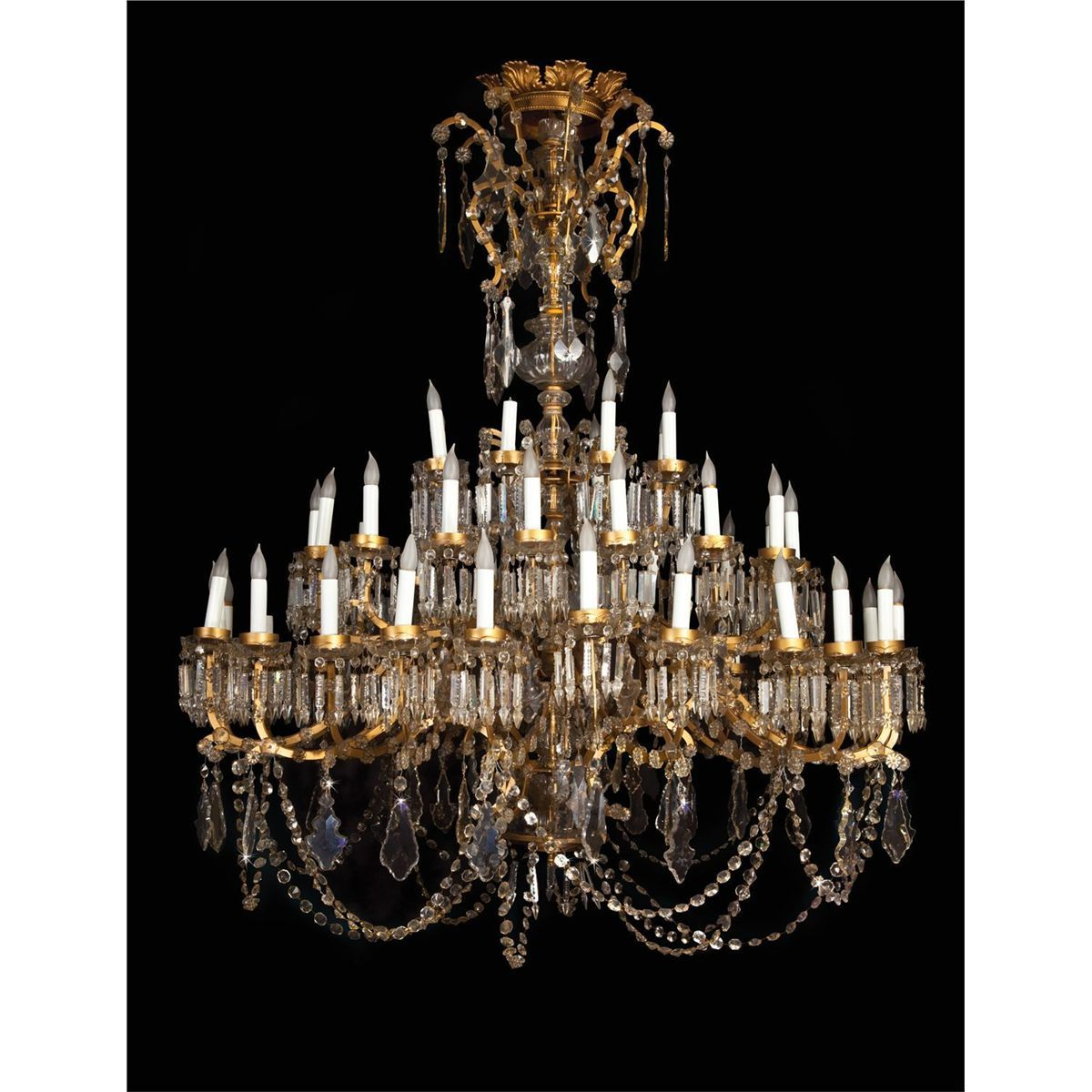 Mgm 1938 monumental 20th century rococo style cut glass chandelier mgm 1938 monumental 20th century rococo style cut glass chandelier with scrolling arms aloadofball Gallery