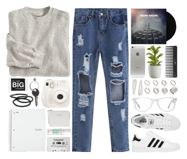 """Imagine Dragons Concert"" by alexandra-provenzano ❤ liked on Polyvore featuring adidas, ASOS, Fuji, Maison Margiela, Crate and Barrel, Goody, Sephora Collection, Forever 21 and Muse"