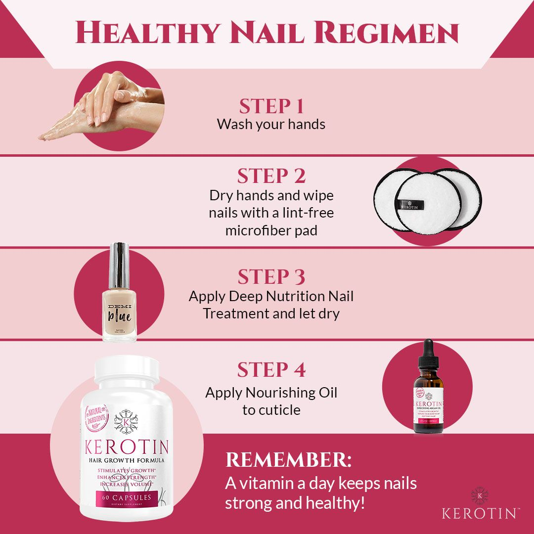 How do you strengthen your nails? Our healthy nail regimen will have your nails longer and stronger in no time!   #nailsday#nailpolish #nailpolishaddict #nailpolishlover #nailpolishjunkie #nailpolishes #nailpolishblogger #nailpolishstrips #nailpolishart #nailpolishcollection #NailPolishHoarder #nailpolishlovers #nailpolishaddiction #nailpolishdesign #nailpolishgiveaway #nailpolishmaniac #nailpolishgel #nailpolishoftheday #nailpolishsociety #nailpolishtutorial