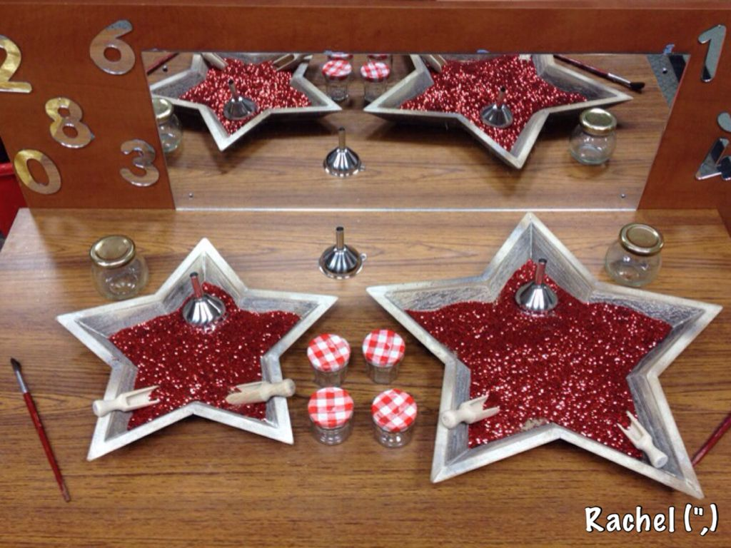 Glitter Mixed With Sand In Star Shaped Dishes