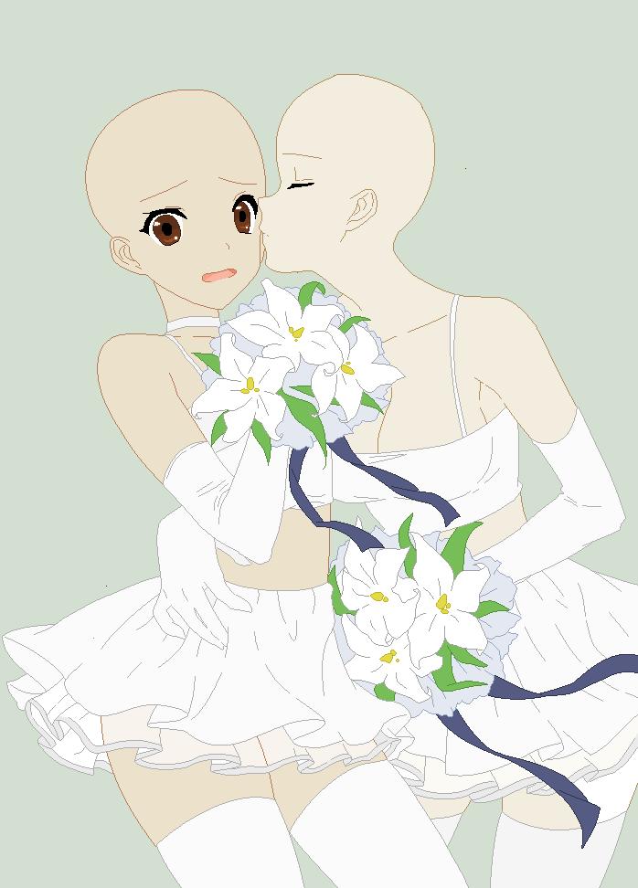 Yuri Wedding Base Drawing Base Anime Poses Reference Anime Drawings Tutorials