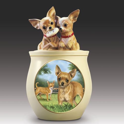 Chihuahua Cookie Jar Impressive Cookie Capers Chihuahua Cookie Jar Puppy Dog Treat Ceramic Jar Linda Design Decoration