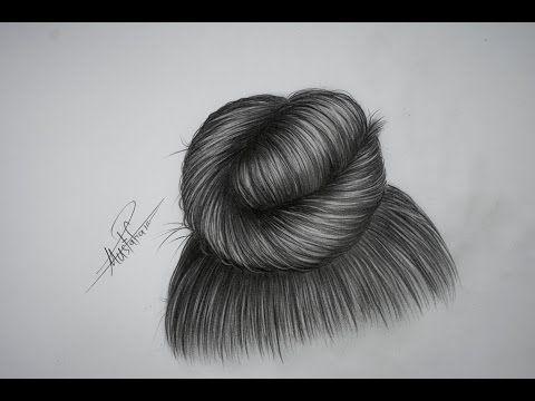 تعليم الرسم بالرصاص تعليم رسم شعر بتسريحة الكعكة خطوة بخطوة Youtube How To Draw Hair Drawing Hair Tutorial Black Women Art