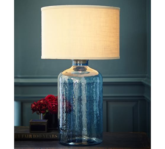 Clift Gl Table Lamp Base Light Blue Pottery Barn