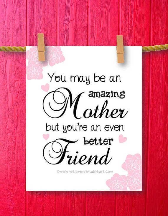 Is your MOM your BEST FRIEND? This instant download