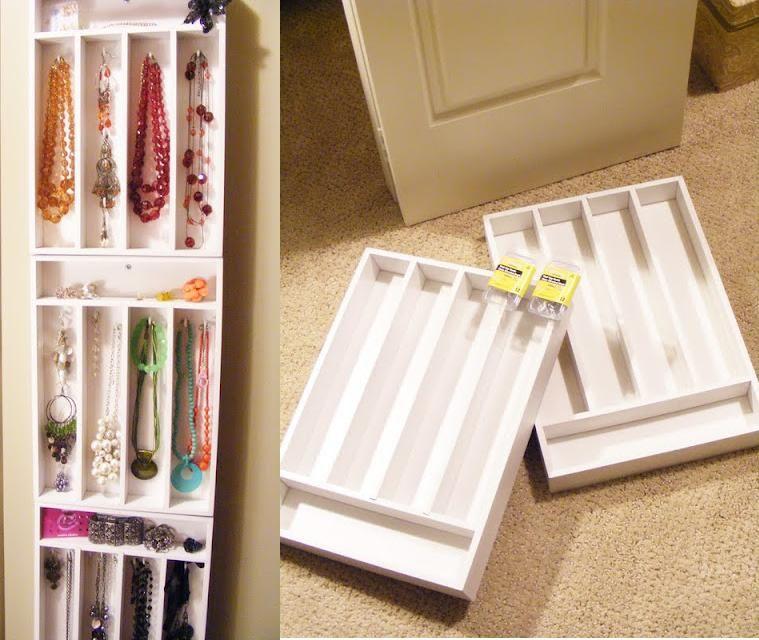 cutlery tray to make jewelry organizer tutorial bjl