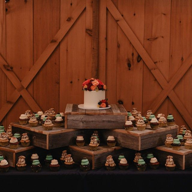 Rustic Wedding Country Barn Farmhouse Wedding Cake Cupcake: Rustic Cupcake Stand W/ Wooden Crates BUNDLE , Rustic