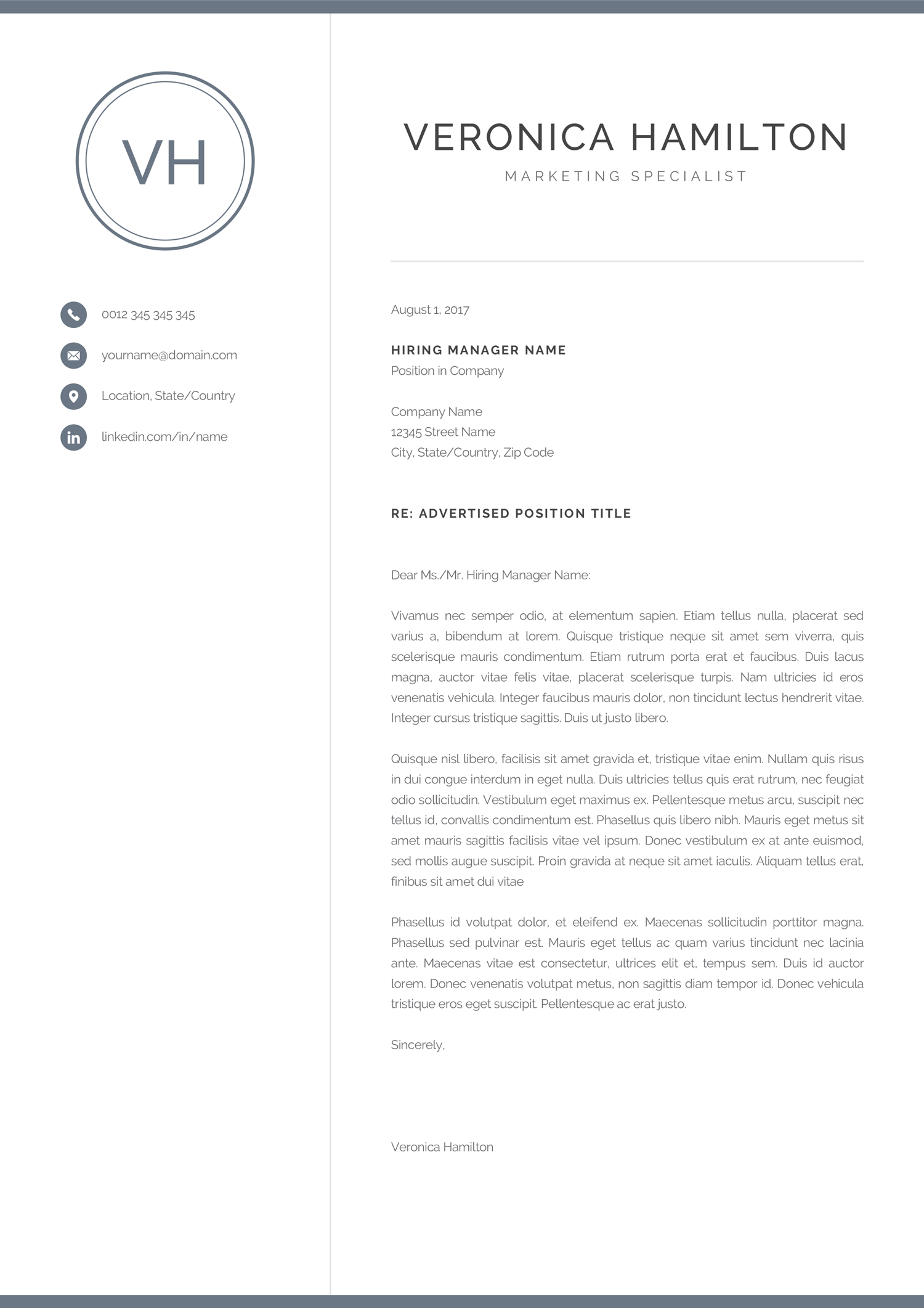 How To Make A Resume On A Mac Resume Template With Monogram 1 2 Page Resume Modern Design