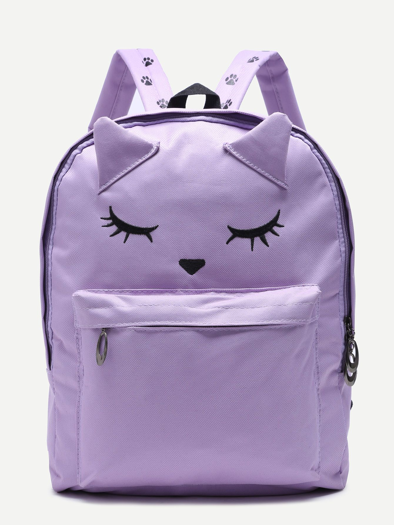 a5ac024e67 Shop Cute Fox Purple Nylon Front Pocket Backpack online. SheIn offers Cute  Fox Purple Nylon Front Pocket Backpack   more to fit your fashionable needs.