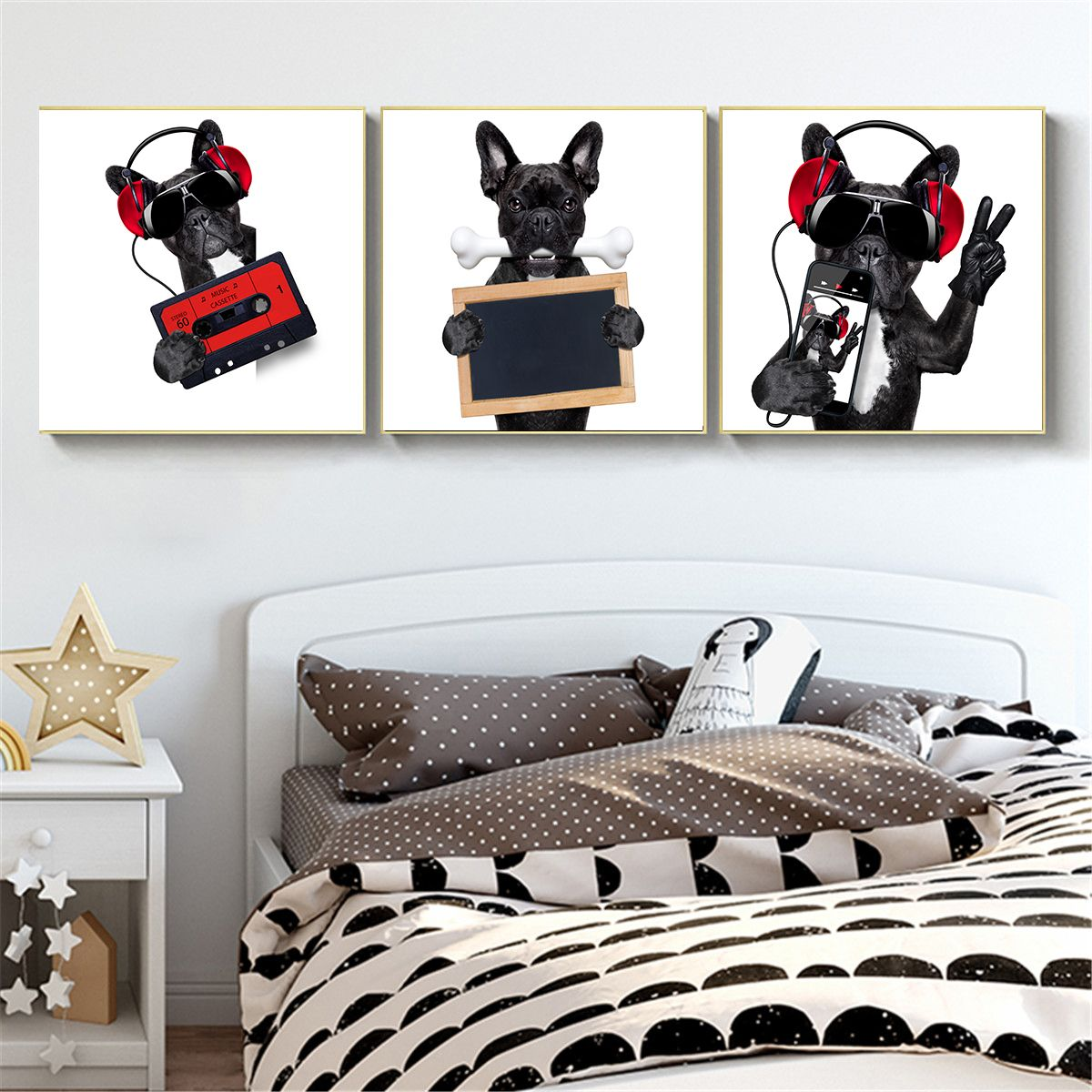 Funny JRT Jack Russell Dog Lovers Canvas Print Pet Decor
