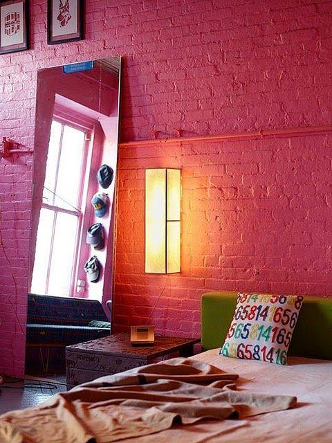 Colour Inspiration Pink 2 Brick Interior Wall Painted Brick Walls Brick Interior