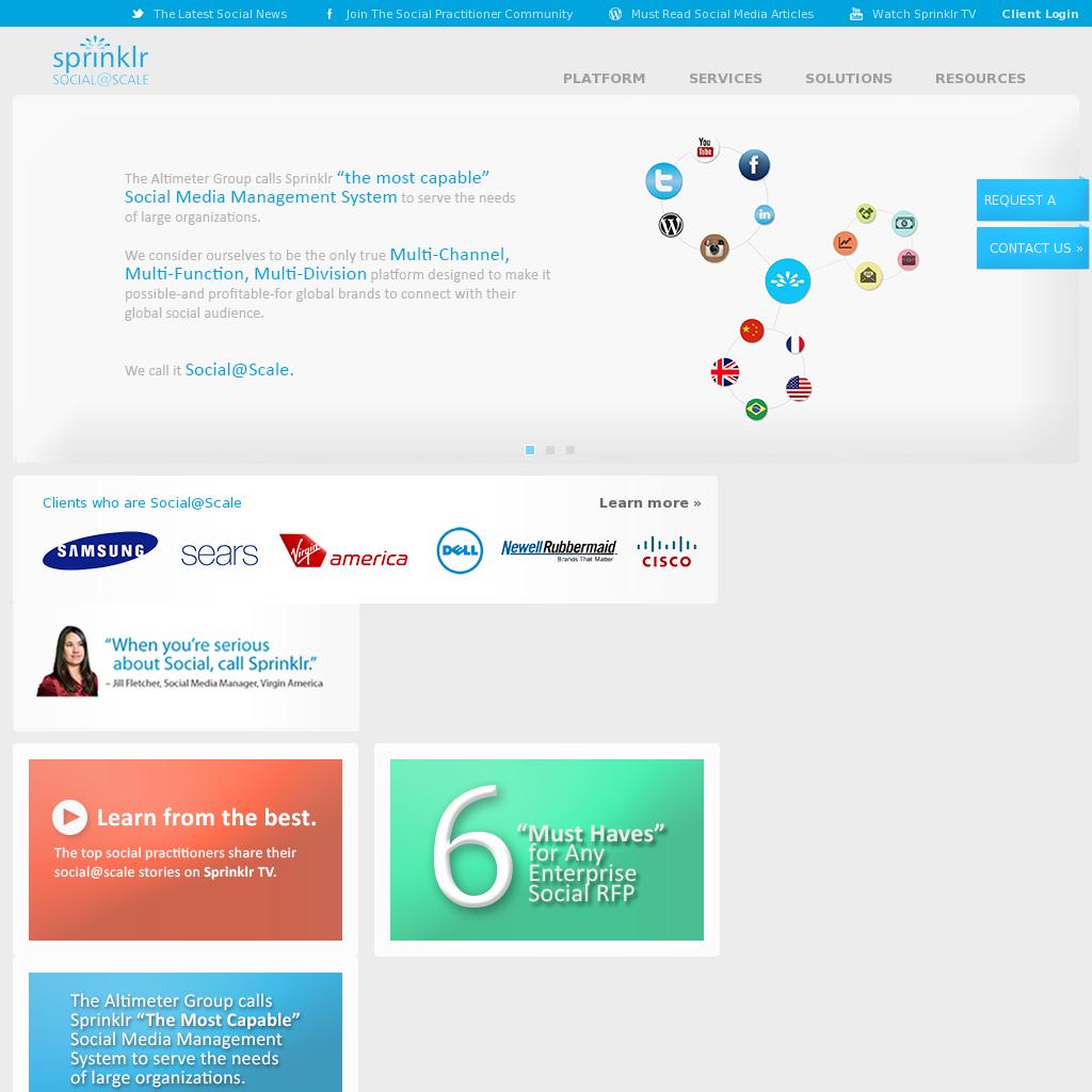 Sprinklr Sprinklr S Siren Social Intent Revelation Engine Platform Is A Comprehe Social Media Management Tools Social Media Management Software Social Media