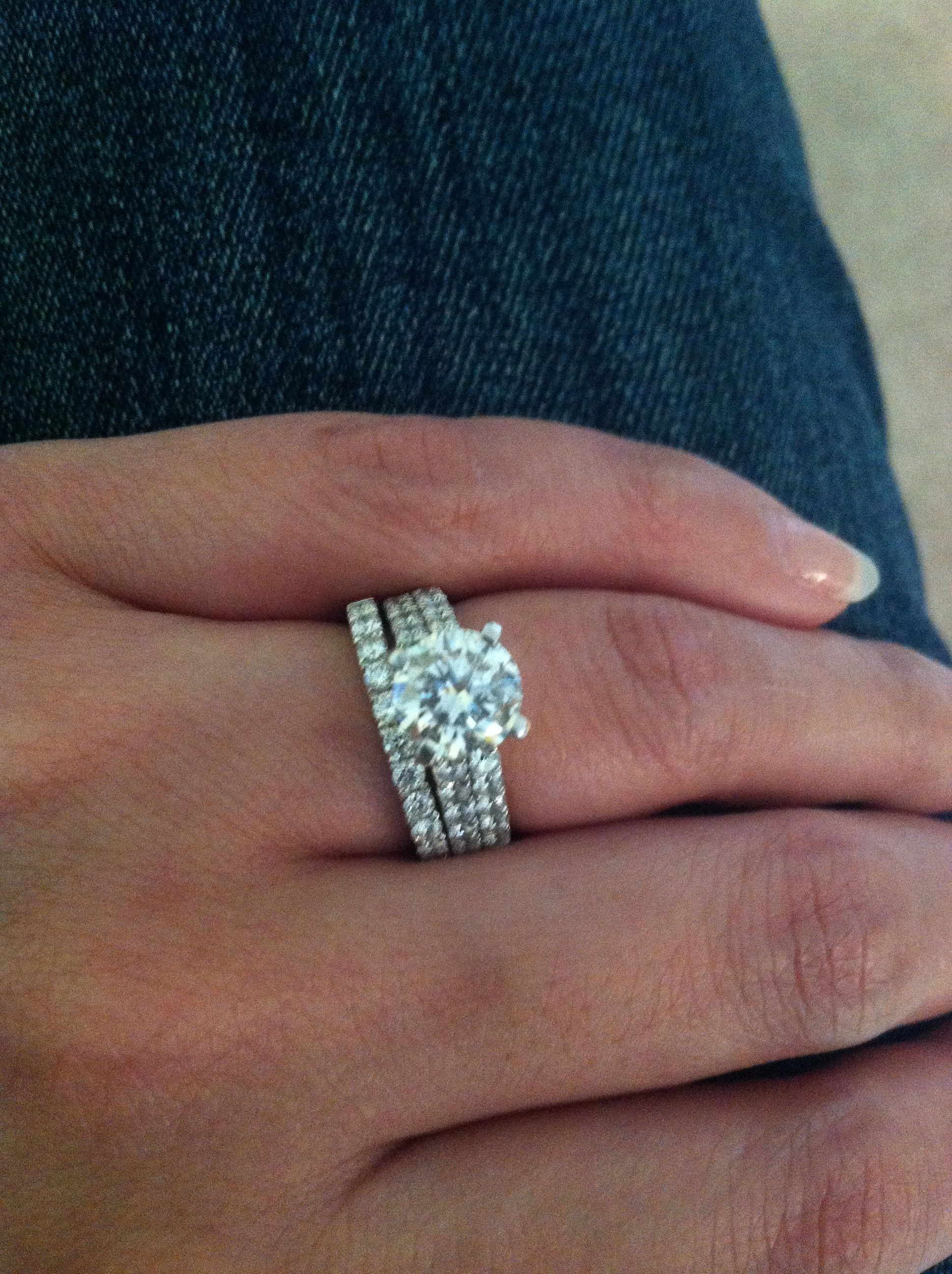 2 5 ctw 1 5 ct center round diamond engagement bridal set