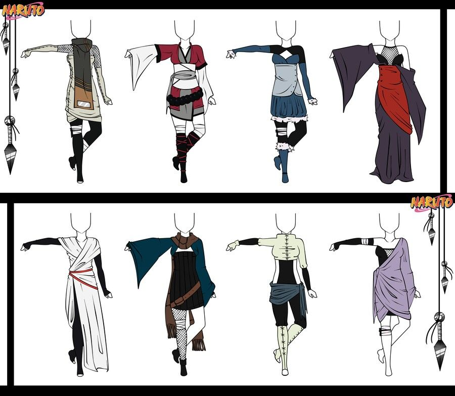 Female shinobi outfits outfits and hair styles - Croquis naruto ...