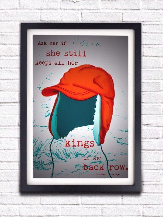 Diy Printable Poster Jd Salinger Catcher In The Rye