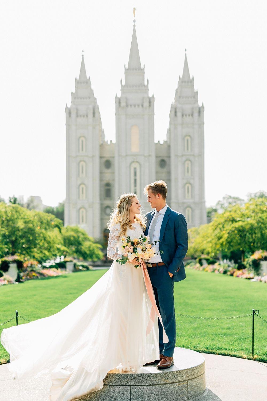 Salt Lake Temple Formal Bridal Session | Utah Wedding Photographer ...