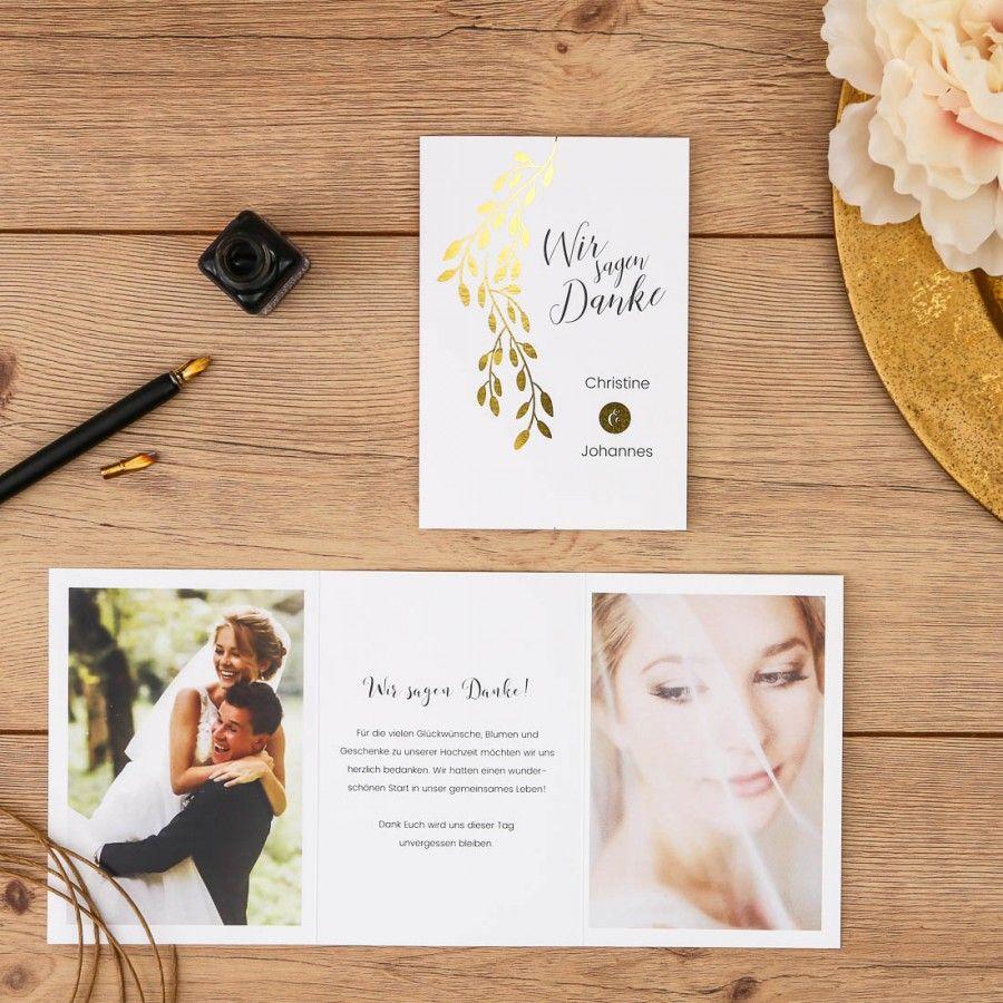 Linadara Danksagung Hochzeit Doppelklappkarte Goldfolie Wedding Hochzeit Dankeska Dankes Karten Hochzeit Danksagung Hochzeit Danksagungskarten Hochzeit