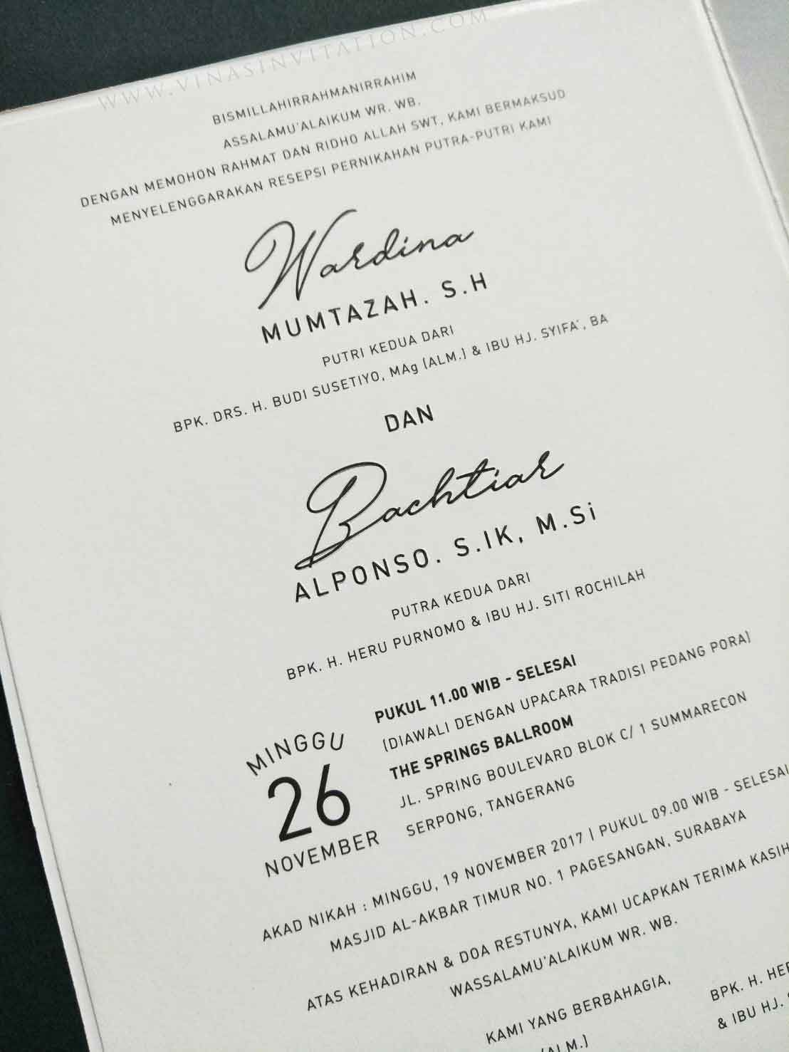 Contoh Invitation Letter Wedding Party In 2019 Wedding
