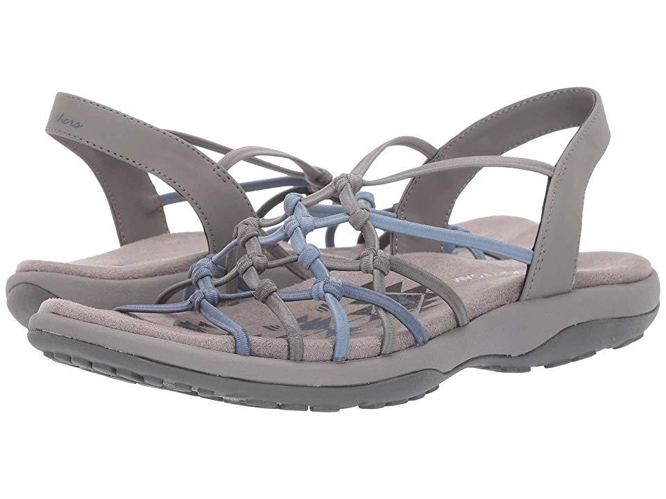 SKECHERS Reggae Slim Forget Me Knot Women's Shoes Grey