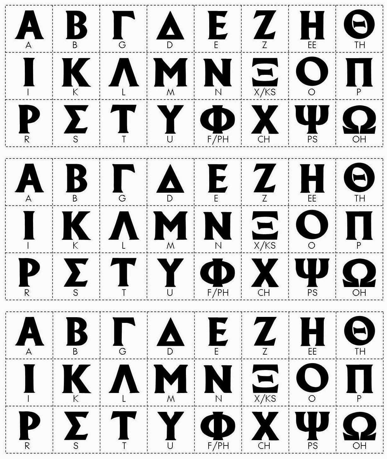 Reading Comprehension With The Greek Alphabet