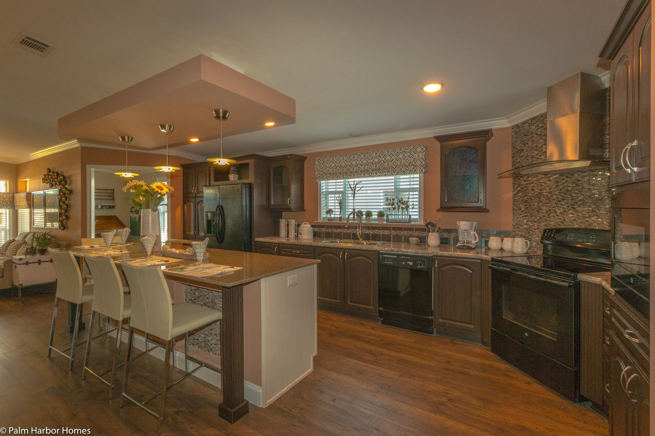 Massive counter space and room for multiple cooks the La