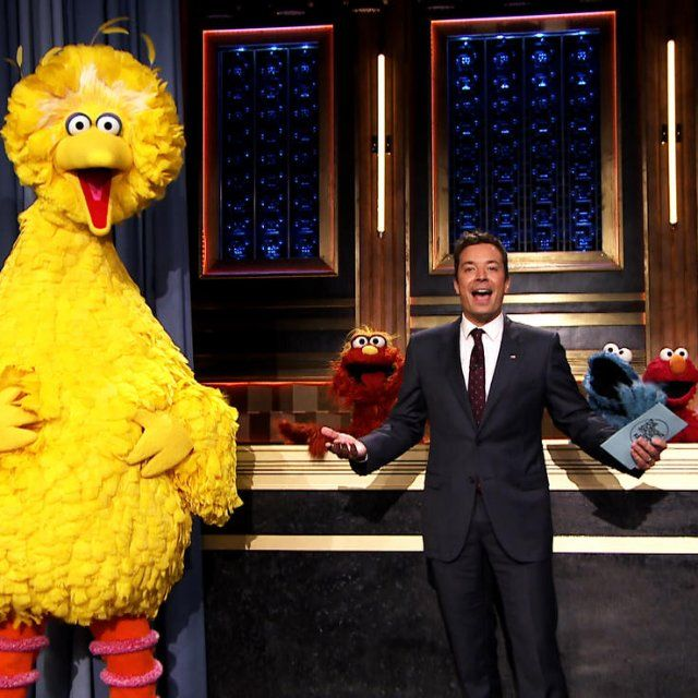 Pin for Later: Sesame Street Characters Visit Jimmy Fallon For Some Hashtag Fun