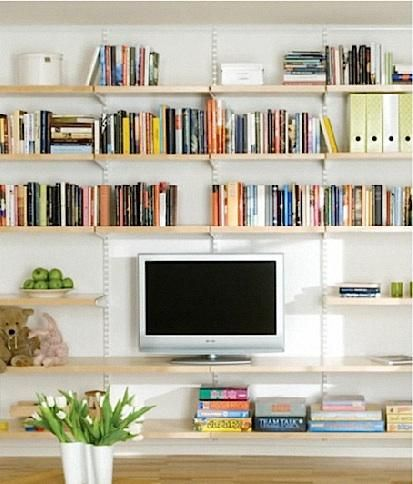 10 Easy Pieces Wall Mounted Shelving Systems Remodelista Living Room Shelves Wall Bookshelves Wall Shelves Living Room