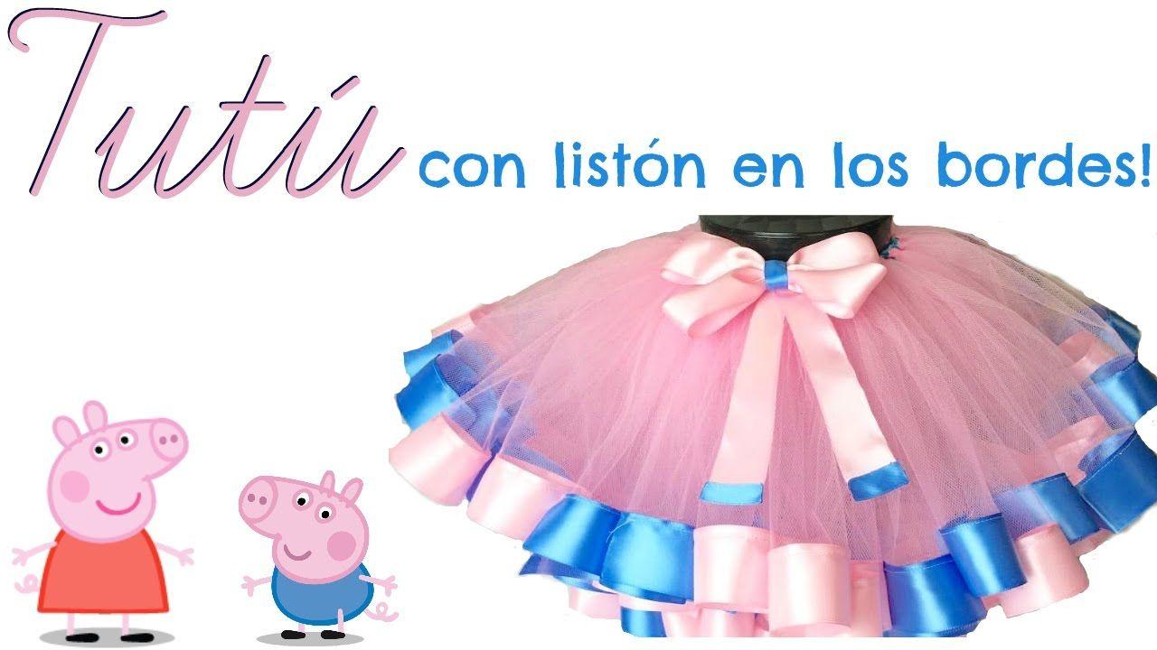dd9dc85607 DIY - COMO HACER UN TUTÚ CON LISTÓN EN LAS ORILLAS!!! - YouTube ...