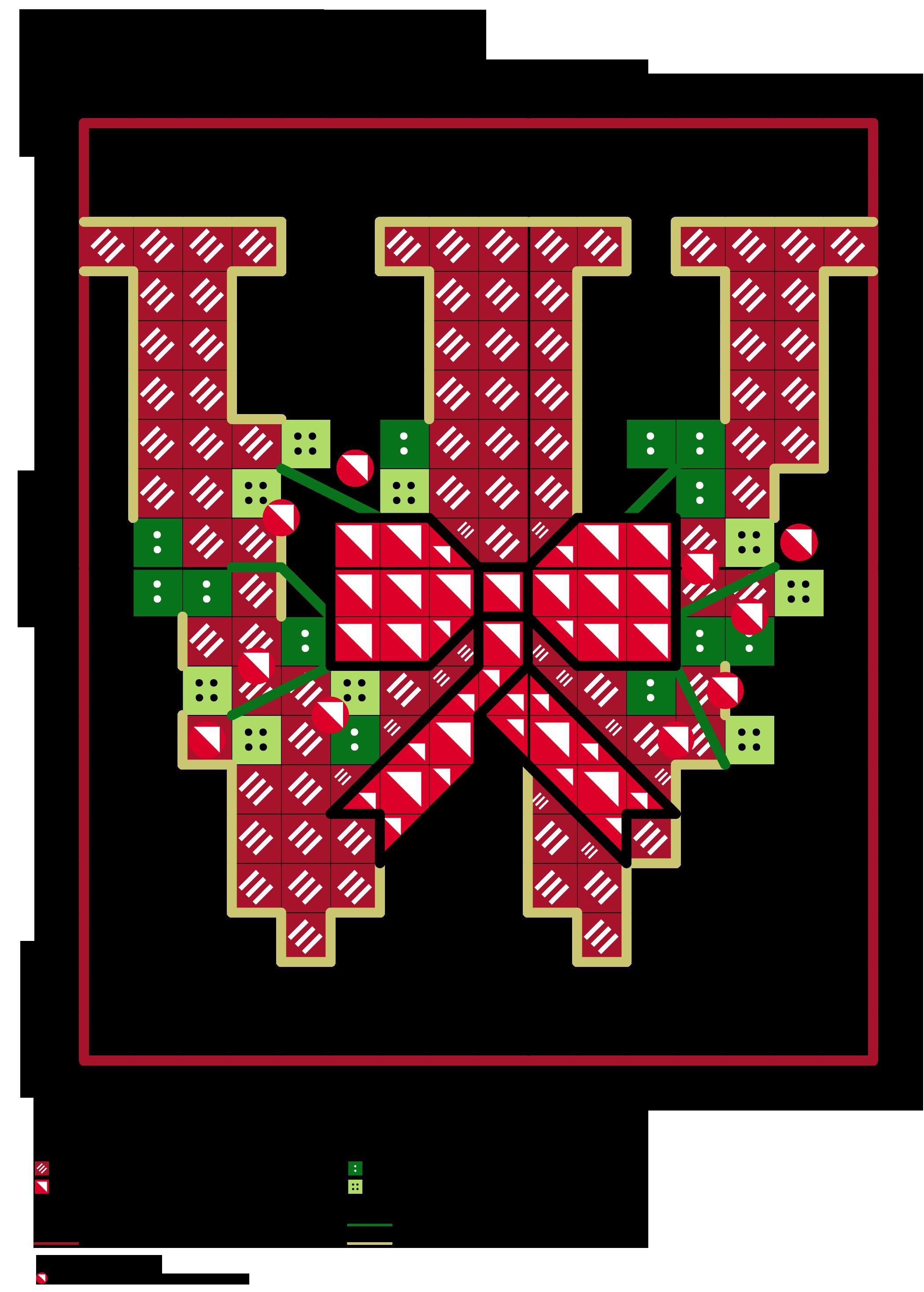 Alfabeto dei fiocchetti natalizi w alfabeti a punto for Alfabeto punto croce grande