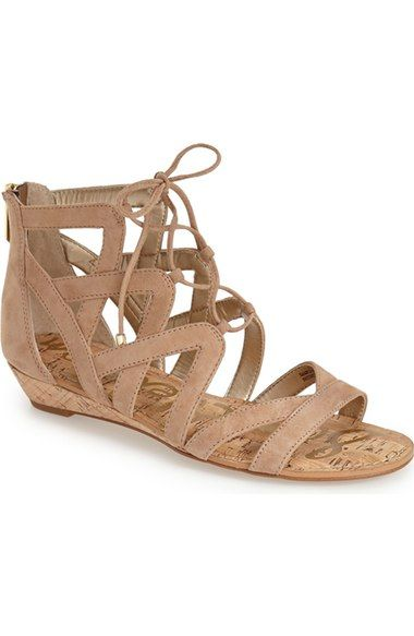 98ca6448033c9 Free shipping and returns on Sam Edelman  Dawson  Ghillie Sandal (Women) at  Nordstrom.com. Crisscrossed ghillie laces bridge the open top of a breezy  sandal ...