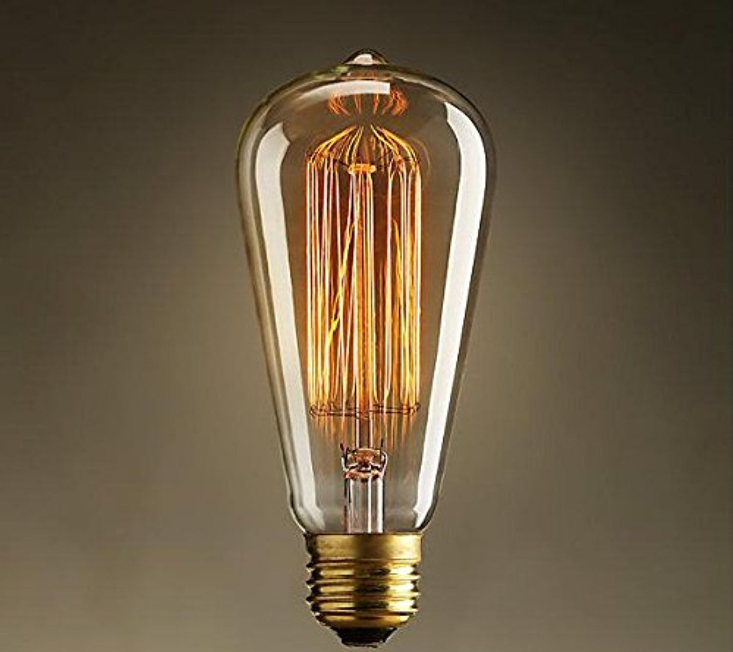 Edison vintage bulbs 60w antique incandescent glass light bulb edison vintage bulbs antique incandescent glass light bulb squirrel cage filament lamp for chandeliers wall sconces pendant lighting awesome products arubaitofo Gallery
