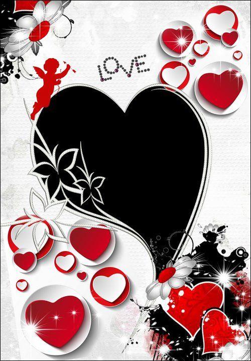 Love photo frame download ( free photo frame psd + free photo frame - love templates free