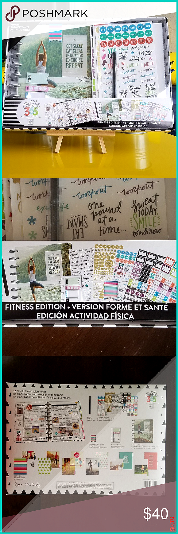 12 Month Create 365 Fitness Journal Edition Brand New Includes 1pen 5 sticker sheets 1 Bookmark 4 st...