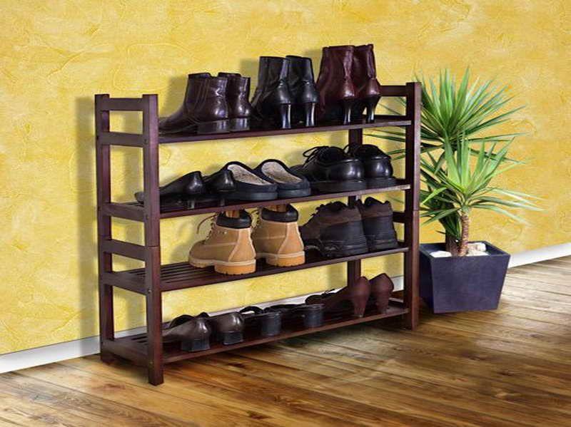Front Foyer Shoe Storage : Mahogany shoe rack for entryway racks pinterest