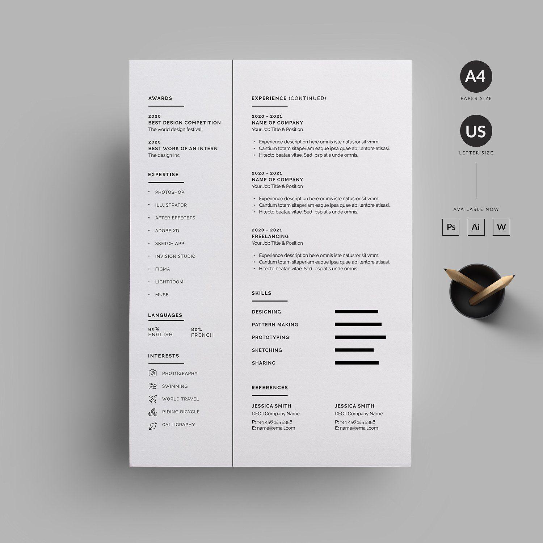 Resume/CV by Reuix Studio on creativemarket Resume cv