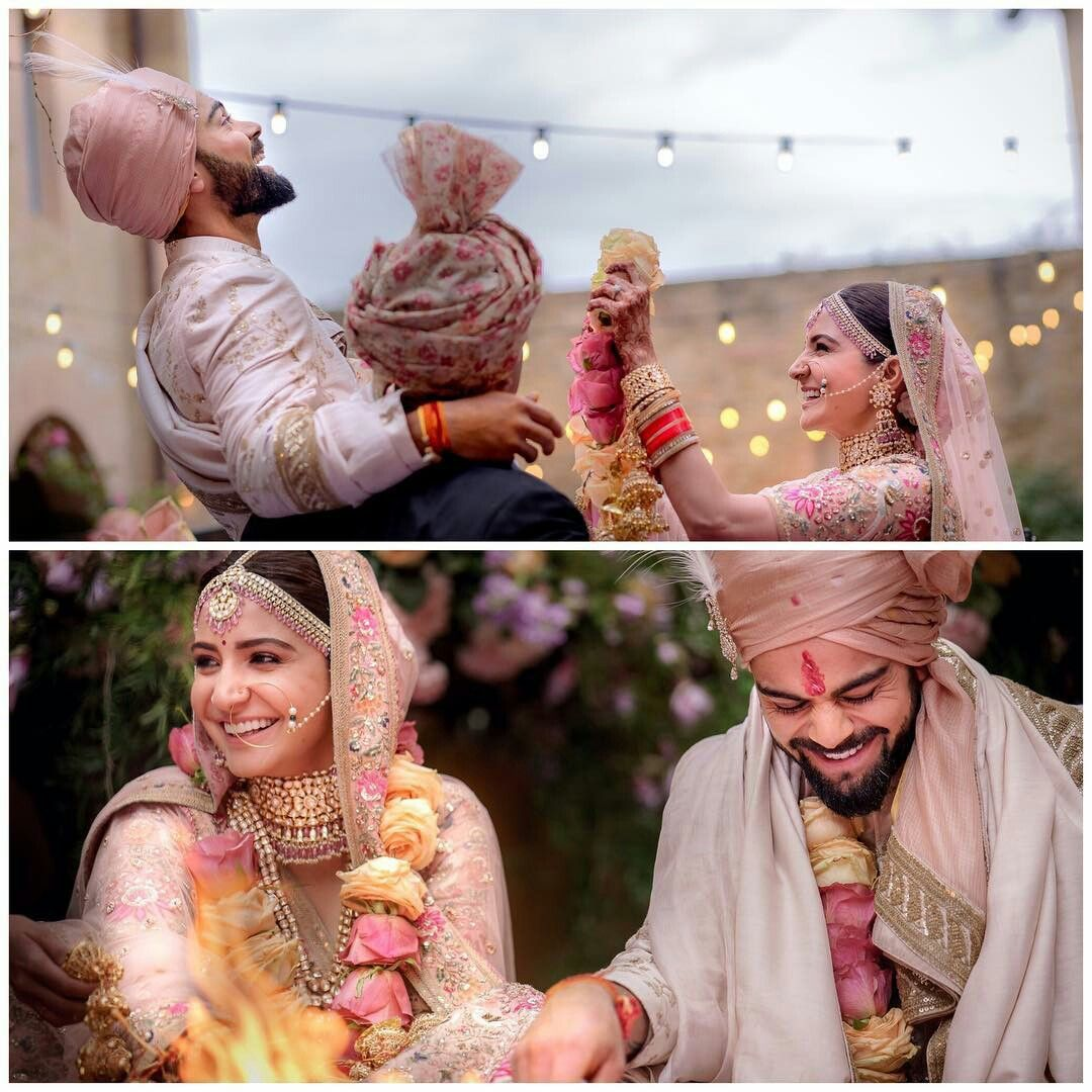 Beautiful pictures from the wedding of AnushkaSharma and
