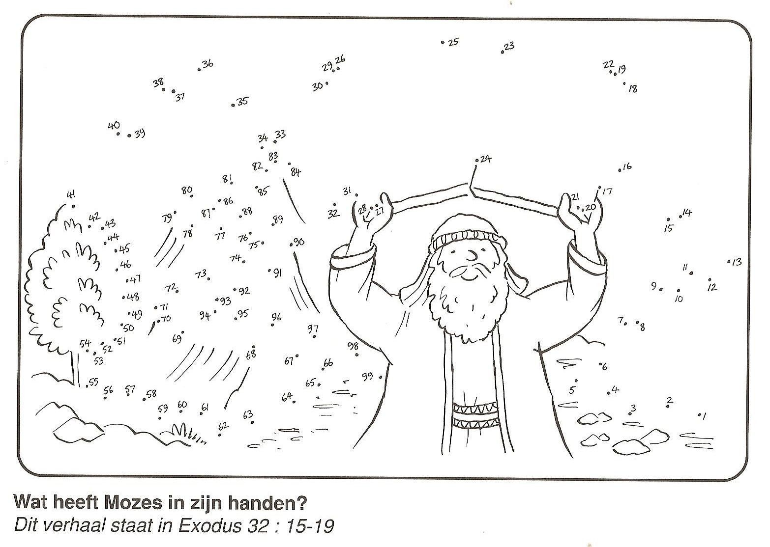 Image Result For Moses And The Ten Commandments Coloring Page