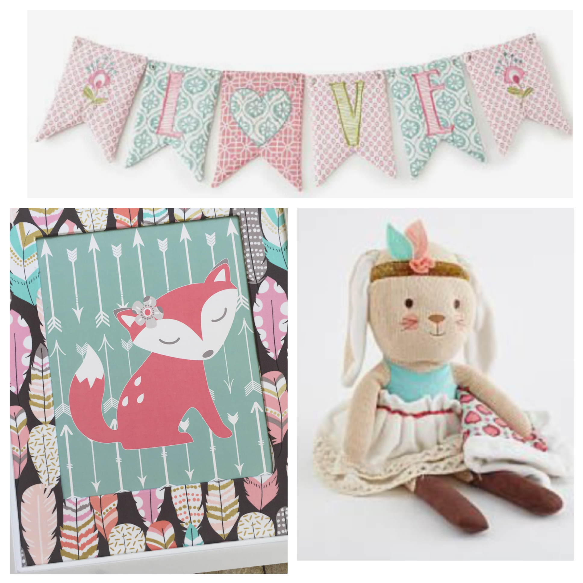 Levtex Baby Fiona Fox Decor, Girl Woodland Nursery Decor, Fox
