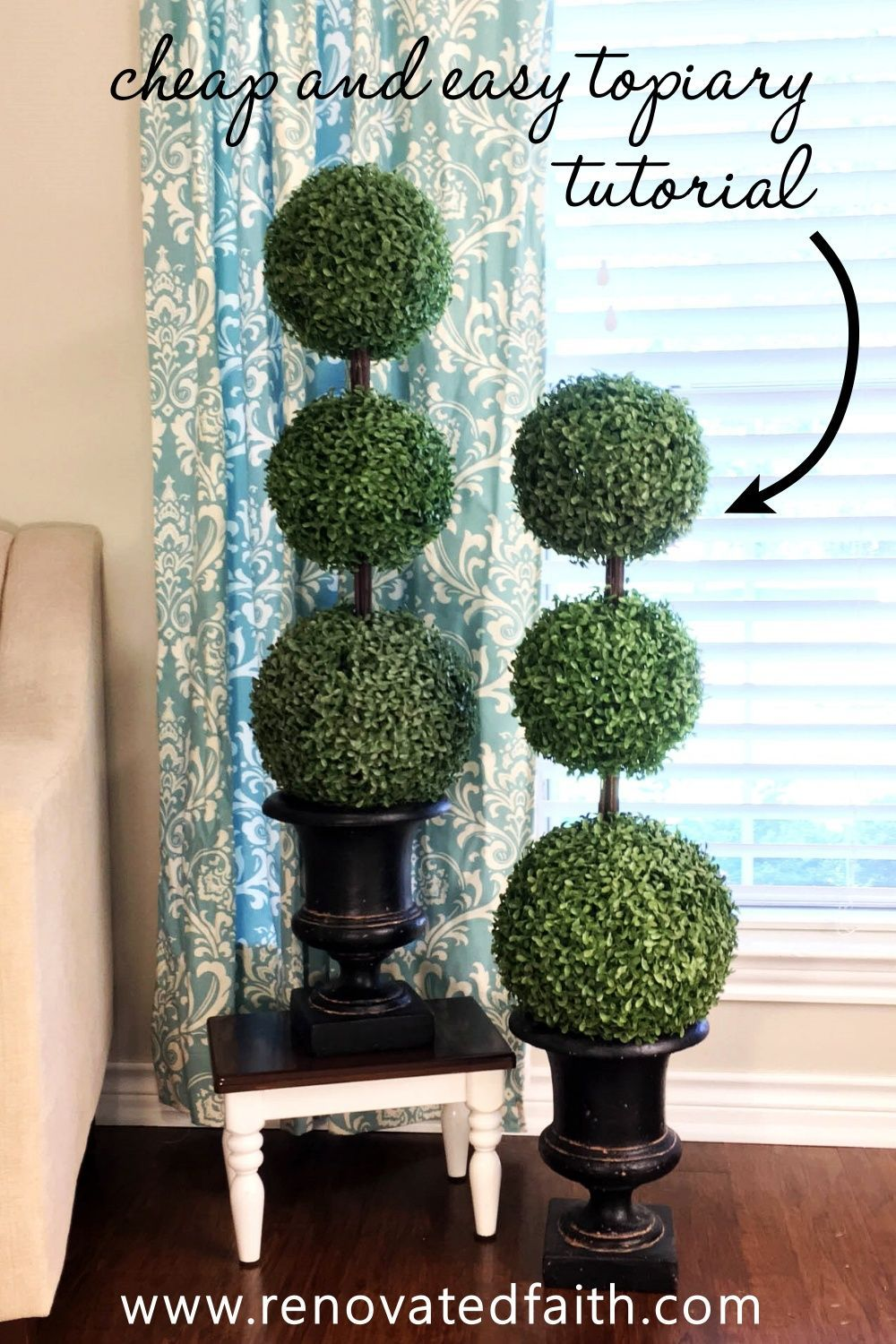 The Easiest Diy Topiary Trees On A Budget Topiary Decorating Ideas In 2020 Outdoor Topiary Topiary Diy Topiary Trees