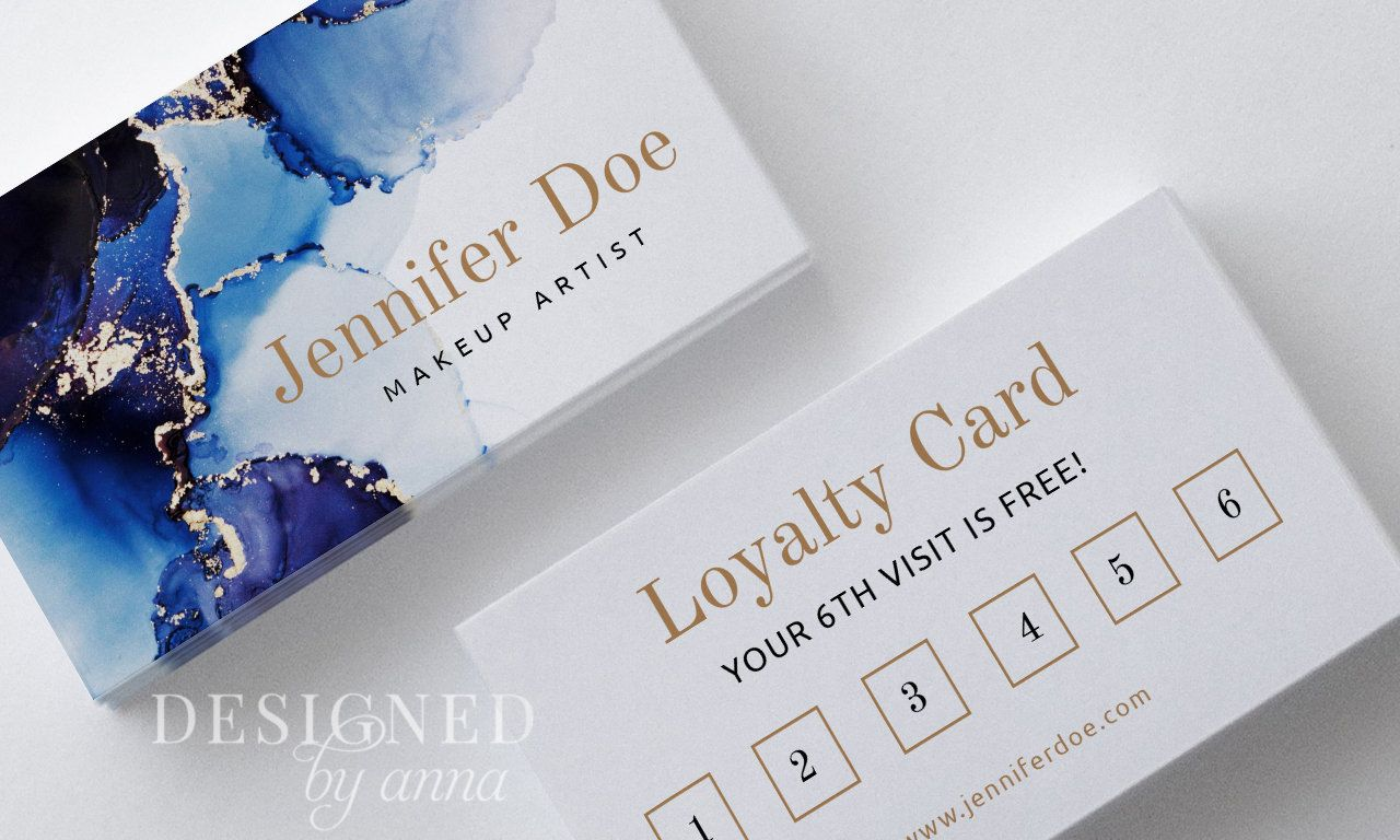 Watercolor Loyalty Card Design Printable Loyalty Card Template Etsy Loyalty Card Design Loyalty Card Template Card Design