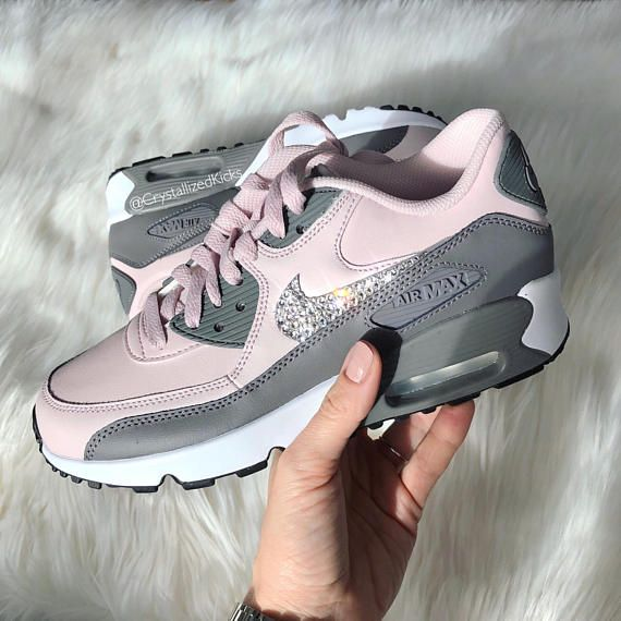 Nike Air Max 90 Made with SWAROVSKI® Crystals COLOR  Blush Cool Grey ... b457b15bb4