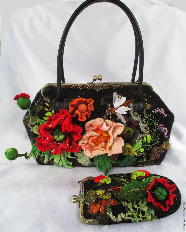 1d2a3650fcfb Женские сумки ручной работы. Ярмарка Мастеров - ручная работа. Купить  Валяный саквояж
